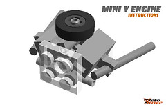 Mini V Engine Instructions (ZetoVince) Tags: car greek lego vince engine vehicle instructions minifig zeto zetovince
