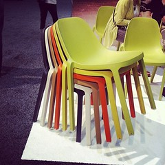 Love how these #chairs stack -- not as space-saving but nice spectrum effect. (Yahoo! Homes) Tags: dod2012 dwellondesign2012
