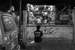 Thailand - Bangkok (luca marella) Tags: street light people bw television night blackwhite tv asia box pb bn e thailandia bianco nero marella marellaluca