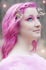 The Fairy Queen (Edson_Matthews) Tags: pink portrait woman macro photoshop hair nikon sunday makeup queen fairy micro f