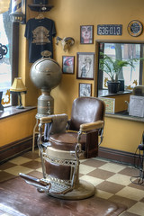 Pugsly's Barber Shop (milfodd) Tags: ny january kingston barberchair 2013 singlerawhdr pugslysbarbershop potdjanuary9th2013