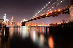 Brooklyn Bridge at Night (WilliamMarlow) Tags: nyc brooklyn nikon nikkor nycskyline brooklynbridgepark nikond7000