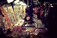 Seoul (forayinto35mm) Tags: winter woman cold travels asia market sony korea seoul depressed southkorea koreanwoman sonyalpha sonya77 forayinto35mm
