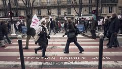 Attention Double Sens (Gabriel M.A.) Tags: street pink paris france lumix protest fuchsia demonstration cropped crosswalk f25 manif manifestation reportage 16x9 14mm gf1 antigaymarriage panasoniclumixg14mmf25asph manifpourtous lamanifpourtous regardezgauchepuisdroite