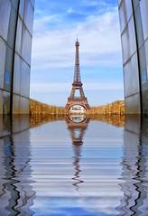 Paris (AO-photos) Tags: paris reflection water architecture mirror eiffeltower reflet toureiffel