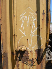 plantrees in rungs (httpill) Tags: railroad streetart art train graffiti streak tag graf crab meat railcar boxcar streaks railways freight imitation naka plantrees monikers moniker hobotag hobomoniker hoboart benching paintsticks boxcarart oilbars freighttraingraffiti markals