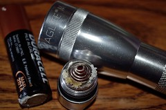 Maglite Won't Shine - 3/52 (KKfromBB) Tags: mar nikon battery corrosion aa duracell corrode 2014 minimaglite 17365 week3theme nikond5100 kkfrombb jan2013 365moments2013 17jan2013