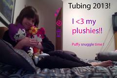 I love my plushies! (Dark Draculaura Rose) Tags: love me myself hug photobooth deepcreeklake hihipuffyamiyumi