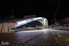 Puente luminoso (Sento MM) Tags: san juan rotonda tram playa alicante tranvía largaexposición avdadeholanda