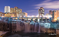(RocPX) Tags: old winter cold architecture landscape roc photography lights long exposure architectural rochester granite genesee rochesterny geneseeriver oldarchitecture highfalls upperfalls architecturalphotography longexp architecturallandscape rocny rocpx photographyrocny