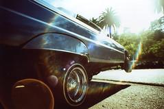 GAF XPro Drifting on a Memory Cruise 04 (▓▓▒▒░░) Tags: california park camera cruise slr classic film car 35mm vintage losangeles xpro kodak crossprocess wideangle slide retro elysian 20mm hydraulics custom elitechrome vivitar lowrider magichour whittier gaf