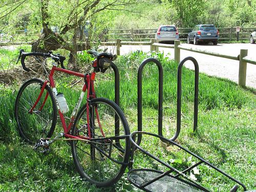 Photo - Bike rack at OSMP Trailhead