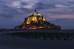 Mont Saint-Michel magical dusk (seryani) Tags: longexposure sunset sea summer vacation mountain france church water abbey night canon river island bay coast mar twilight europe cathedral dusk magic tide ile bretagne september unescoworldheritagesite unesco mount septiembre verano bluehour lowtide stmichel benedictine soir isle normandy francia nuit isla 2009 vacaciones nocturne 2470l tides nit anochecer hightide vaca montstmichel montsaintmichel stmichaelsmount saintmichel marea saintmichaelsmount bretaa couesnon nocturnes lemontsaintmichel 2470 canonef2470f28l noctambule mareas platinumphoto montesanmiguel francelandscapes bahie canoneos5dmarkii bajanormanda 5dmarkii septiembre2009