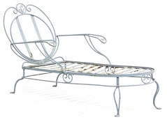 41. Vintage Painted Iron Chaise Lounge
