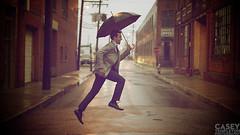 Ledbury - Rain (casey@caseytempleton.com) Tags: street usa rain umbrella jump richmond
