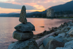 DSC00510 (Mark Lai Photography) Tags: ocean beach rocks stack seawall ambleside westvancouver