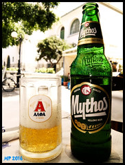 Two greek beers mythos ! (Insempi) Tags: greek grecia greche birra beer drink alcolico alcholic mythos alfa hellenic bira