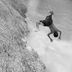 (briyen) Tags: boy swim fun back pond mud flip icm iloilo forg 2015