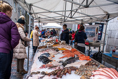 fish stall (pamelaadam) Tags: aberdeen scotland february winter 2015 visions meetup people lurkation digital fotolog thebiggestgroup