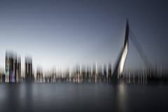 Erasmusbrug ICM (Mabry Campbell) Tags: 2014 erasmus erasmusbridge erasmusbrug holland houstonphotographer icm mabrycampbell may rotterdam thenetherlands architecturalphotography architecture architecturephotography blue bridge commercialphotography fineartphotographer fineartphotography harbor image intentionalcameramovement motion movement northerneurope photo photograph photographer photography water f10 may142014 20140514h6a5601 24mm 200sec 100 tse24mmf35l