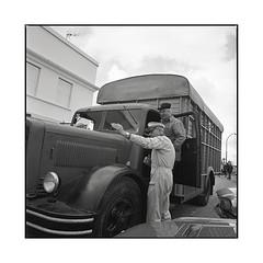 this way  bel air, burgundy  2016 (lem's) Tags: station service gas attendant pompiste camion berliet truck vintage nationale 6 n6 bel air burgundy bourgogne hasselblad 500cm