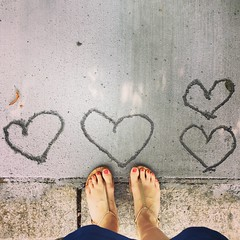 sidewalk love (ekelly80) Tags: dc washingtondc august2016 summer cement hearts love feet lookdown fromwhereistand sandals walk