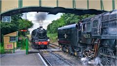 45379/92214. Passing ... (Alan Burkwood) Tags: midhantsrailway ropley lms class5mt 45379 br 9f 92212 steam locomotive