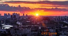 Sunset Paris (thomaslaconis) Tags: sunset paris view vue panorama notredame defense grandpalais mairie louvre garedelyon seine ponts bridges