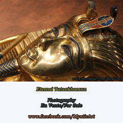 Eternal Tutankhamun (Mystic Art *) Tags: tutankhamun pharaoh king egypt pyramid symbols symbol light coppery night moon dream magic