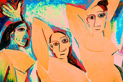 COLOR (florencia mele fabris) Tags: color picasso les demoiselles davignon young ladies avignon nyc moma manhattan recolored pintura cubism nikon