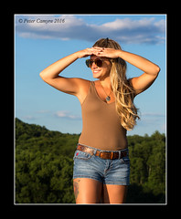 Melissa Grace - August 7, 2016 (Peter Camyre) Tags: melissa grace peter camyre photography sunset photoshoot quabbin reservoir massachusetts shorts blonde sunglasses picture portrait canon 5d mkiii beautiful girls female model models pose posing pretty trees sky blue friend people border sunday august 7 2016 casual shoot image fashion glamor vogue pics classy long hair ef70200mmf28lisiiusm