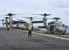 160815-N-YR245-002 (U.S. Pacific Fleet) Tags: boxarg13meu16 ussboxerlhd4 amphibiousreadinessgroup 13thmarineexpeditionaryunit 13thmeu usmarines usnavy cpr1 flightoperations mh60sseahawk mv22osprey us7thfleet celebessea