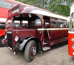 ' 622 '  HD 7905  1948  LEYLAND Tiger PS1 with Brush B34F body  YORKSHIRE  Woollen  District  Transport  Co  Ltd  Photo 3 (Mr Sandtoft.) Tags: peak park preserved bus gathering rowsley south station 19th june 2016