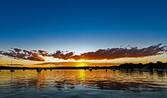 Lake Sunset (Sterling67) Tags: bolton point lakemacquarie sunset clouds water reflection boats shore outdoor