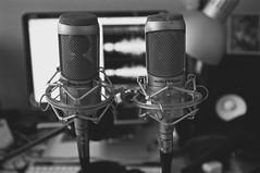 Recording session (Z!SL) Tags: sel24f18z sel24f18za sel24f18 sonnar2418za sonyphotographing sonnarte1824 sonnar zeiss carlzeiss nex5r emount minoltaemount mirrorless nex equipment microphones studio bw blackandwhite noiretblanc monochrome bokeh bokehwhores dof depthoffield interior indoor audio audiotechnica