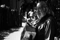 A Torino una domenica d'agosto (nico gesualdo) Tags: gente people suonatore fisarmonica torino piemonte bianconero blackwhite italy domenica agosto ritratti strada urbano urban street bw parco parcodelvalentino castellodelvalentino