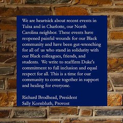 A message to the Duke community from the president and provost on events in Tulsa and Charlotte (Duke University) Tags: ifttt instagram duke university