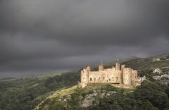 Harlech Castle (Glenn D Reay) Tags: harlech castle sunlit sun history wales clouds trees illumination pentaxart pentax k30 sigma1770hsm glennreay golden