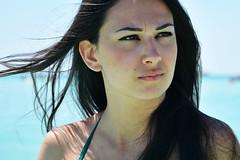 Delia. (sinetempore) Tags: profilo profile portrait ritratto viso volto face capelli hair capellineri blackhair vento wind donna woman girl capellialvento hairinthewind occhineri blackeyes
