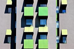 Green days (RosLol) Tags: berlin berlino germania germany roslol architecture detail windowd finestre architettura balconi verde green abstract facade building edificio facciata lines linee colore ombre shadows