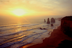 12 Apostles (wandering clouds) Tags: sunset nature ocean beach sky waves 12apostles greatoceanroad victoria australia wanderingclouds travel tour outdoors