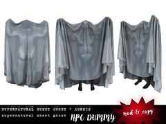 Sheet Ghost NPC (Tesla Miles) Tags: tesla ghost halloween secondlife sl mesh zombie npc