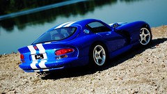 1996s Dodge Viper GTS On Lake (obscure.atmosphere) Tags: deutschland germany hamburg sommer summer verano ete   modellauto    car spielzeug   toy toys 118 juguetes modelo jouets dodge chrysler viper srt us usa american muscle auto automobile supercar sportcar hypercar   exotic automobil sportwagen coche carro automovil deportivo voiture sport sonnenschein sonnenlicht licht light ligero lumiere   sunlight sunshine sun sonne   sunny sonnig design snake schlange diecast modele model modell gts art exposure lake see