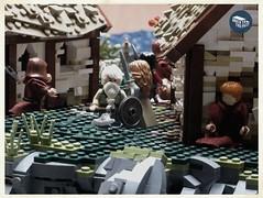 Fee-fi-fo-fum, I smell the blood of an Anglo-Saxon! (Macsen Wledig) Tags: lego vikings england saxon history lindisfarne bricktothepast britain raid monk monastery anglosaxon darkages minifigs