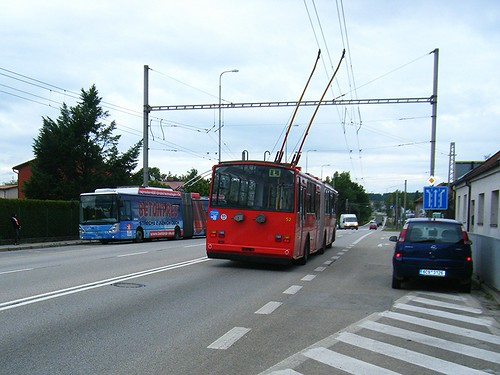 Ceske Budejovice trolleybuses No.52 and 65.
