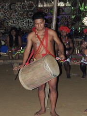 DSCN0959 (KaDresel) Tags: music musicians drums rainforest panama embera villiage nativeboy villiagelife nativemen emberaboy emberavilliage nativevilliage
