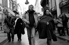 Untitled (Kevin Vanden) Tags: street brussels white black streets three fuji belgium candid couples x100
