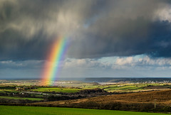 Bright Bow and Virga ~ Explored (intrazome) Tags: nature rain weather landscape rainbow nikon day