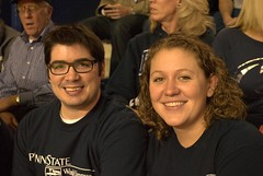 Ed Blackburn with Ellie Swartz (Penn State World Campus) Tags: pennstateworldcampus pennstatebasketball
