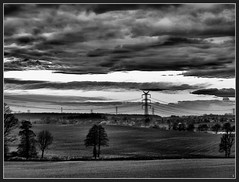 Okolice Pstrnej(EXPLORED) (sly.space) Tags: sky blackandwhite bw white black clouds landscape poland polska silesia lsk monocolor e510 chmury krajobraz theworldthroughmyeyes oberschlesien olympuse510 grnylsk salonpolski pstrna